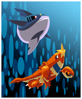 COMBO: Sharpedo And Crawdaunt by ShadowOverlordXDZ