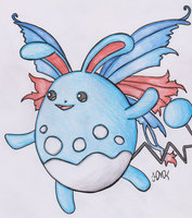 Old Pokemon, New Type 11: Azumarill by Shabou