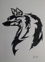Tribal wolf or fox! by Carlitos-Girl