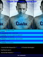 Chester Bennington Journal Skin by DragonA7X