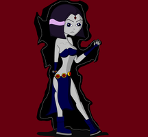 Raven in her sexy costume by MasterghostUnlimited