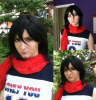 Mikasa Makeup/Wig Test by Whimsical-Angel