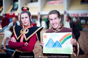 Azula and Sokka, CONvergence 2011 by thatbloodypirate
