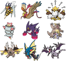 1st Gen Mega Evolutions Sprites by conyjams