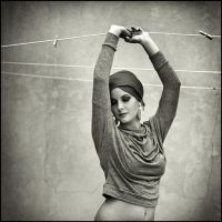 grace at the clothesline by MoniBrand