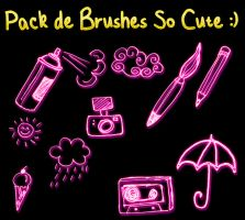 Pack Brushes SoCute by vanymiley13