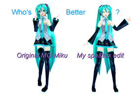 MG Miku edit:Who's Better? by RinLenFan