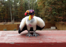 Needle Felted King Vulture by DancingVulture