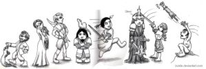 Birthday-LotR-Chibis by isolde