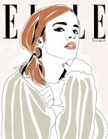 Elle Cover Emma Watson Vector Illustration by Trinimime