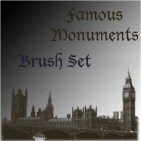 Famous Monuments Brush Set by LoveInTheBedOfRazors