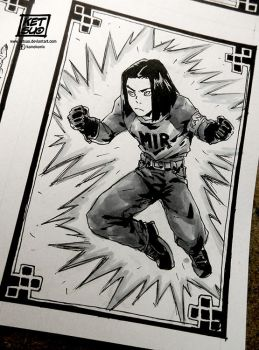 April challenge 16 | Android 17 by KetsuoTategami
