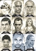 Topps UFC Bloodlines gray sketch cards by therealbradu