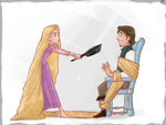 Rapunzel and the frying pan by vanipy05