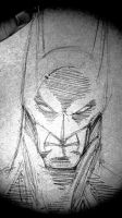 Batman Sketch... 3 Mins by CliffEngland