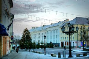 Town hall in Tartu in the afte by FreeMaind