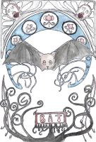 Art Nouveau Bat by Goats-On-A-Boat
