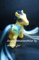 My little pony custom butterfly Sweet Amaranthine by AmbarJulieta