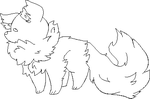 F2U Fluff Pixel Pup Lineart/Base by Pocky-Babe