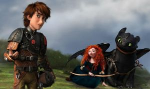 Merida and Hiccup by xLexieRusso2