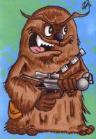 Star Wars Chewbacca Sketchcard by kevbrett