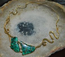 Malachite freeform by DPBJewelry