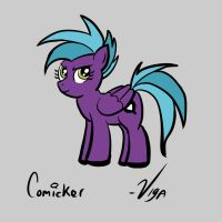 Comicker side view by starlightv