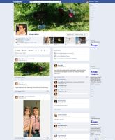 Facebook timeline layout by ryanbdesigns
