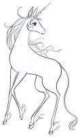 DailyDoodle: Last Unicorn by justira