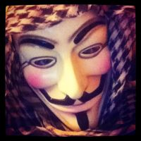 My Guy Fawkes (Anonymous) Mask/Scarf by KingHusky