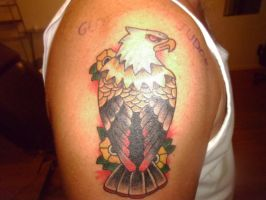 Traditional Eagle Tattoo by EricTatt