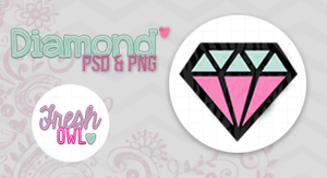 +Diamond psd and png :3 by freshowl