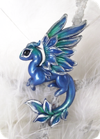 Emerald ice dragon - necklace by AlviaAlcedo