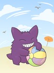 Beach Bum Gengar by deep-fried-banjo