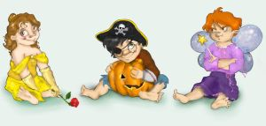 Mini Trio's Halloween by relashio