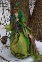 Poseable Dryad mostly done by elvenelysium