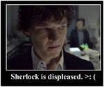 Displeased Sherlock by umbuby