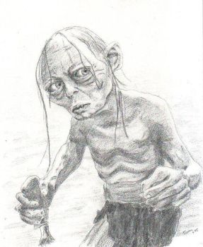 Gollum by Powerfulwoodelf