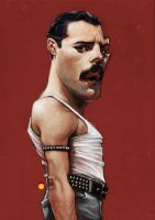 FREDDIE MERCURY by solitarium