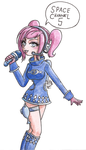 Ulala SpaceChannel5 Uniform - Watercolours by Tsukiko-chan