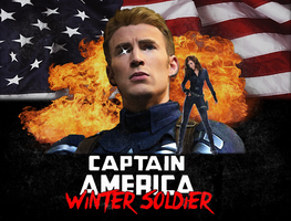 Captain America Winter Soldier 80's Poster by Jarvisrama99