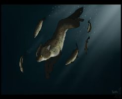 swimming with brown trouts by evil-kaiku