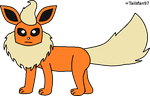 Paint Flareon by FluffyFerret97