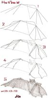 Tutorial draw bat by lamorghana
