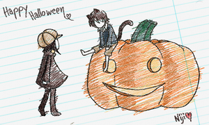 halloween scribble by Niji-iro