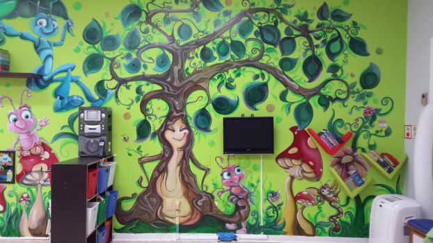 Mural. Little Forest by webnatu