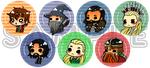 The Hobbit + Lord of the Rings Buttons by TheonenamedA