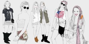 Coachella ladies 2013 by Nazgrelle