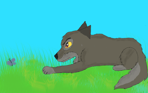 Puppy Balto Hunting by BreezeWarrior