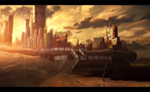 Destroyed city by Xilus-Alex